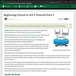 Beginning iCloud in iOS 5 Tutorial Part 1