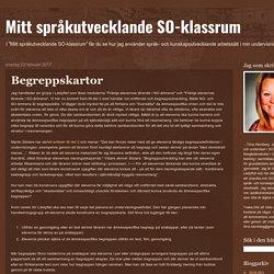 Mitt språkutvecklande SO-klassrum: Begreppskartor