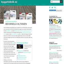Behandla altanen » Byggoteknik.se