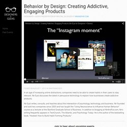 Behavior by Design: Creating Addictive, Engaging Products