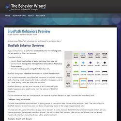 The Behavior Wizard | BluePath Behaviors Preview