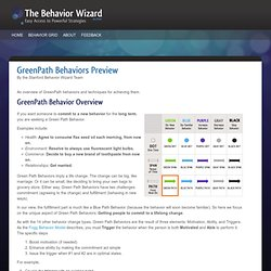 GreenPath Behaviors Preview