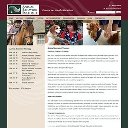 Animal Behavior Institute's Animal Assisted Therapy Certificate Program