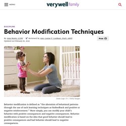 Behavior Modification to Help Your Child