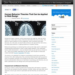Human Behavior Theories That Can be Applied to Web Design
