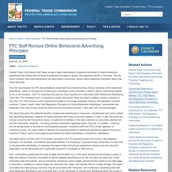 FTC Staff Revises Online Behavioral Advertising Principles