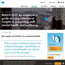 Mélodie - REACH OUT: An employer's guide to using behavioral insights in supporting staff mental health and wellbeing