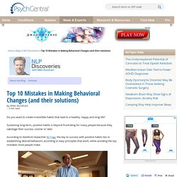 Top 10 Mistakes in Making Behavioral Changes (and their solutions)