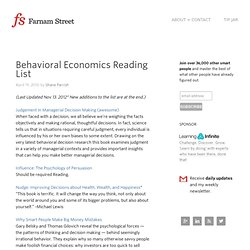 Behavioral Economics Reading List - Farnam Street