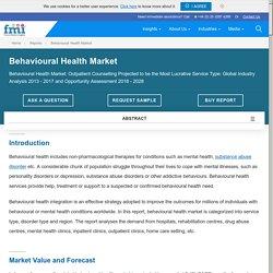 Behavioral Health Market