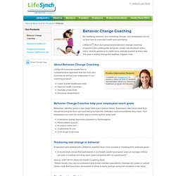 Behavioral Change Coaching - Behavior Change Management Program - LifeSynch