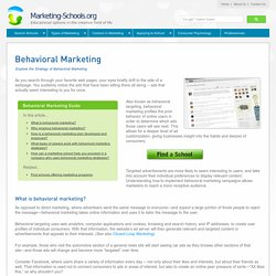 What is Behavioral Marketing?