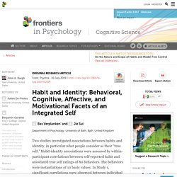 Habit and Identity: Behavioral, Cognitive, Affective, and Motivational Facets of an Integrated Self