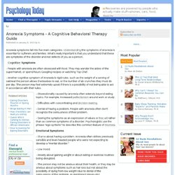 Anorexia Symptoms - A Cognitive Behavioral Therapy Guide