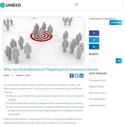 Why You Need Behavioral Targeting In E-Commerce Search