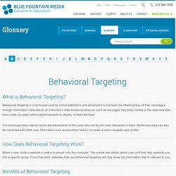 Behavioral Targeting – Glossary