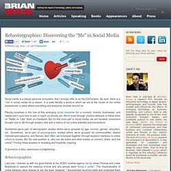 """Behaviorgraphics: Discovering the """"Me"""" in Social Media"""