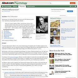 What Is Behaviorism? How It Works and How It Influenced Psychology