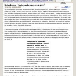 Behaviorism - Neobehaviorism (1930–1955) - Skinner, Hull, Psychology, and Learning