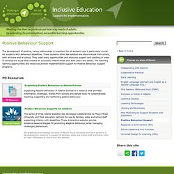 Positive Behaviour Support – Inclusive Education