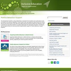 Positive Behaviour Support – Inclusive Education