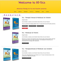 BT-Tics Behaviour Therapy for tics and Tourette syndrome