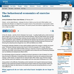 Mind games: The behavioural economics of exercise habits