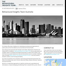» Behavioural Insights Team Australia