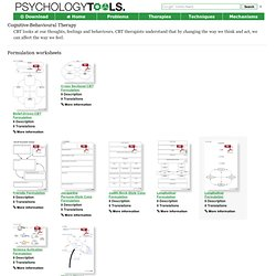 Cognitive Behavioural Therapy (CBT) Worksheets, Handouts and Resources