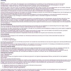Beheersregeling documentaire informatievoorziening Defensie 2003, Toelichting