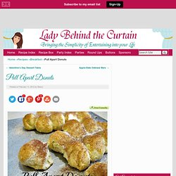 Lady Behind the Curtain » Pull Apart Doughnut