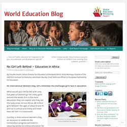No Girl Left Behind – Education in Africa