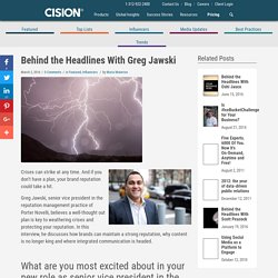 Behind the Headlines With Greg Jawski