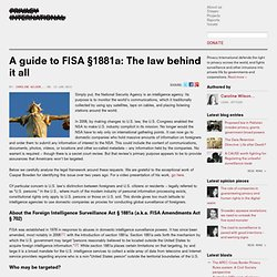 A guide to FISA §1881a: The law behind it all