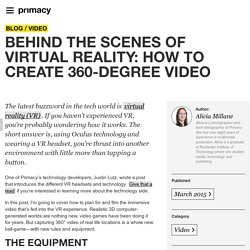 Behind the scenes of virtual reality: how to create 360-degree video - Primacy