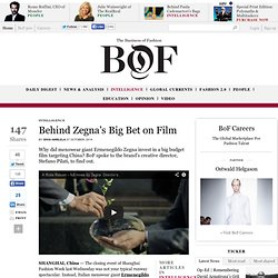 Behind Zegna's Big Bet on Film - The Business of Fashion