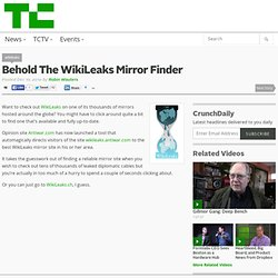 Behold The WikiLeaks Mirror Finder