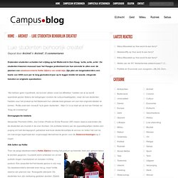 Luie studenten behoorlijk creatief - Campusblog