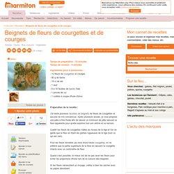 Beignets de fleurs de courgettes et de courges : Recette de Beignets de fleurs de courgettes et de courges