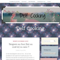 Beignets au four {fait au cook'in}