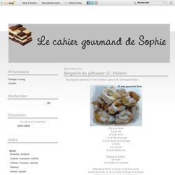 Beignets du pâtissier (C. Felder)