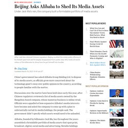 Beijing Asks Alibaba to Shed Its Media Assets