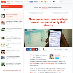 Beijing Cracks Down on Microbloggers