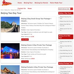 Beijing Two Day Tour