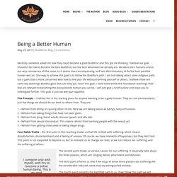 Being a Better Human