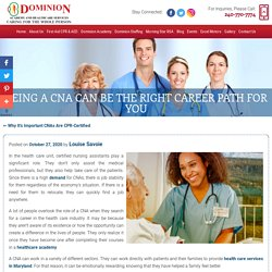 Being a CNA Can Be the Right Career Path for You
