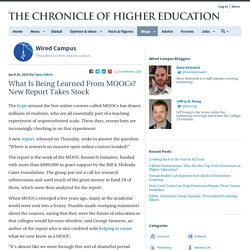 What Is Being Learned From MOOCs? New Report Takes Stock