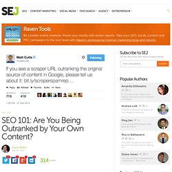 Are You Being Outranked by Your Own Content?