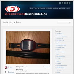 Being in the Zone - D3 Multisport