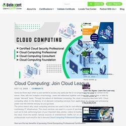 Online Cloud Computing Professional Certification:Join Cloud League - Beingcert